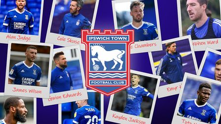 A long list of Ipswich Town players are out of contract this summer