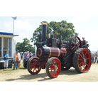 A vintage steam engine on display at the Historic Vehicle Gathering