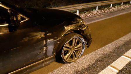A Tesco lorry driver helped police locate a suspected drink driver on the A1M.