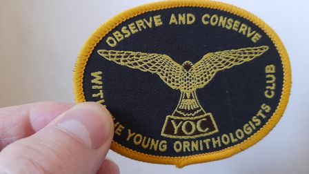 Nick's YOC badge from the mid-1980s