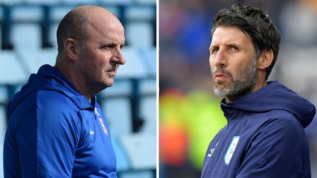 Paul Cook and Danny Cowley go head-to-head at Fratton Park this afternoon