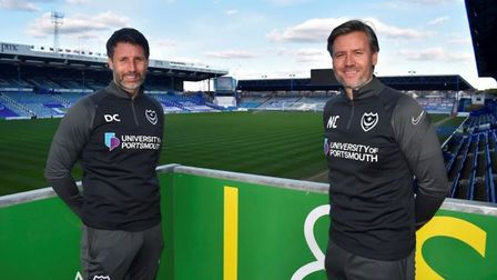 Danny Cowley (left) is the new head coach of Portsmouth. He will again be assisted by brother Nicky