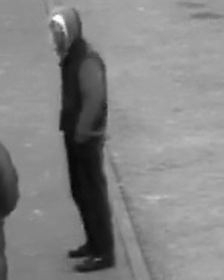 Suffolk police have released CCTV images of a man they are trying to trace