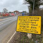 A new roundabout is being constructed on the B1172 at Norwich Common, between Wymondham and Hethersett.