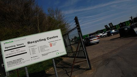 Strumpshaw Recycling Centre prepares for the busy Bank Holiday Easter weekendPhoto:Antony KellyC