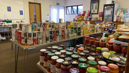 Food parcels at the Help Point independent foodbank in Wymondham are tailored to each recipients individual needs.
