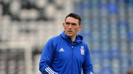 Ipswich Assistant Manager Gary Roberts at Portsmouth