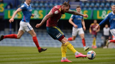 James Norwood opens the scoring at Portsmouth
