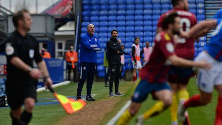 Ipswich Manager Paul Cook at Portsmouth