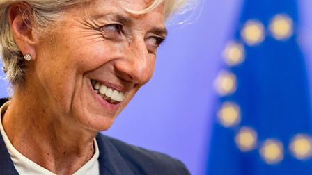 Managing Director of the International Monetary Fund Christine Lagarde smiles as she leaves after a