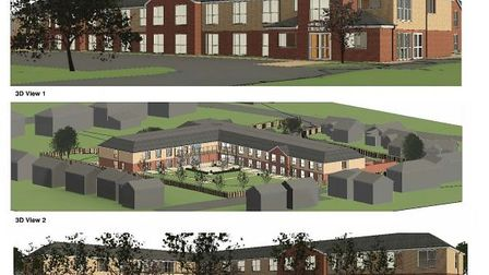 3-D visuals of the new 56-bed care home proposed for March