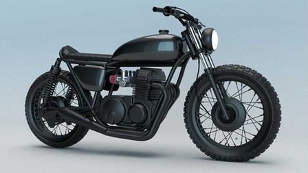 A rendering of how the finished bike will look