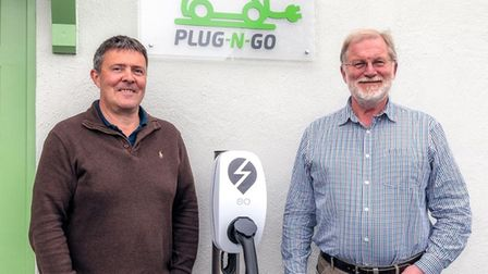 Plug-N-Go bosses Keith Housell, left, and Tim Revell