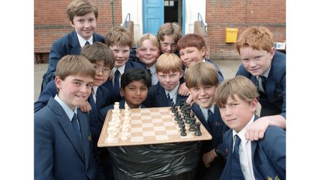 Colchester Boys High School chess team reached the finals of the Independent School chess championships in May 1995