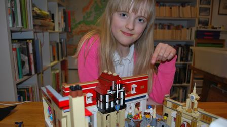 Lego fan Tilda helped out with the build