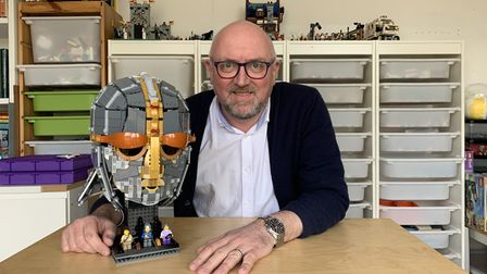 Andrew Webb with his and Tilda's creation