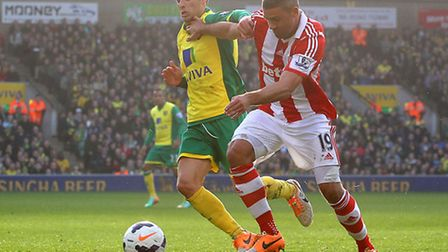 Stoke City striker Jonathan Walters has been touted with a £1.5m move to Norwich City. Picture by Pa