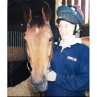 Emilie Wix on Tremallt, a horse that came ninth in the 2003 Grand National
