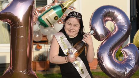 Kaychanel Willson celebrates her 18th birthday, after spending her life fighting off illnesses and k