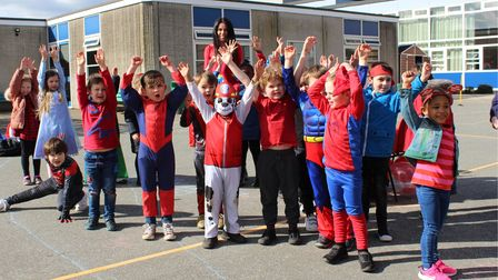 Fun at Dunmow St Mary's Primary School for Comic Relief 2021