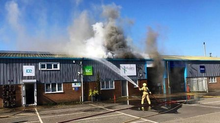It took 30 firefighters to tackle the blaze at the Infusion Group building last March