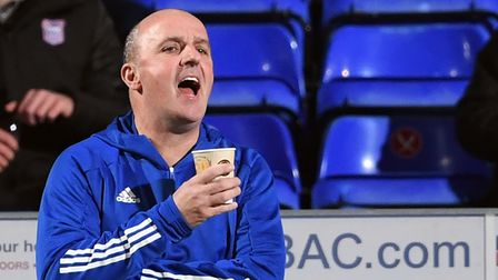 Ipswich Town manager Paul Cook on the touchline during the Sky Bet League One match at Portman Road,