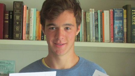 Gresham's School pupil Tom Scott who achieved 12 A*s in his GCSEs. Picture: SUBMITTED
