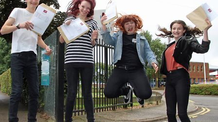 From left to right George Fleming, Lucy Curtis-Warminger, Isobel Shutterworth-Hobbs, Maisie Barber.