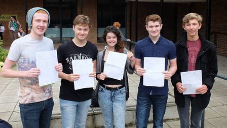Students at Thetford Academy pick up their GCSE results