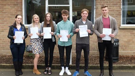 Students at IES Breckland pick up their GCSE results