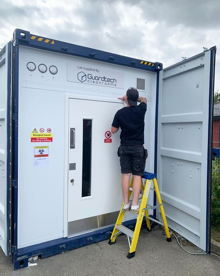 A Guardtech Cleanrooms container