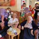 """Kath Rhodes enjoyed a """"really wonderful"""" 100th birthday celebration at The Gables Care Home in Chatteris."""
