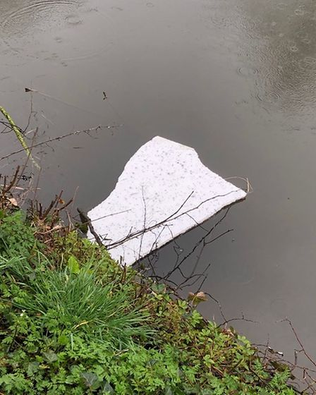 Residents raised concerns over polystyrene shards in the River Wensum near Cow Tower