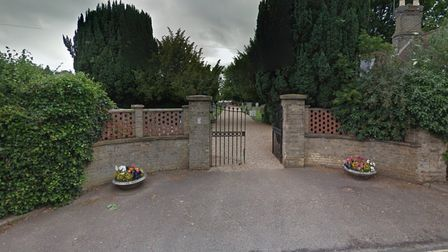 The entrance to the Queen's Road cemetery in Fakenham.