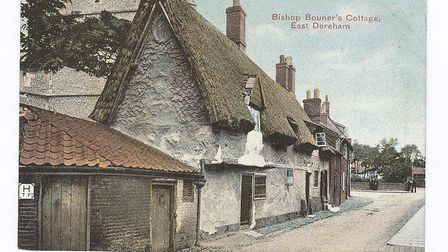 A picture of Bishop Bonner's Cottage in Dereham, taken at some time before 1906. Picture: Supplied b