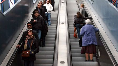 High-tech sensors to keep DLR escalators running like these at Tower Gateway