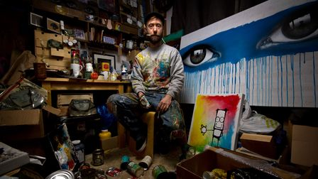 Groundbreaking artist My Dog Sighs who will be taking part in the 'Meet The Artist' events as part of the Moments exhibition
