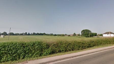 The land off Dereham Road in Easton where 291 homes will be built by Persimmon Homes Anglia.