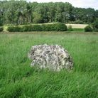 I block of stone in the middle of a green field marks the location of Dodnash Priory