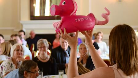 The decorated ducks that raced in the Grand Norwich Duck Race are auctioned to raise funds for Break