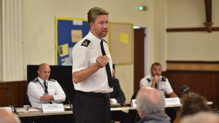 Norfolk Police accountability meeting, with the residents and business owners of Cromer, to discuss