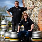 David and Rachel Holliday at the Norfolk Brew House. pic: EDP