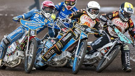 Action from King's Lynn Stars v Leicester at the Adrian Flux Arena - Action from Heat 1. Picture: M
