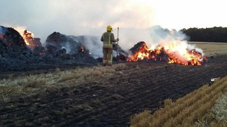 White House Farm, first straw stack fire
