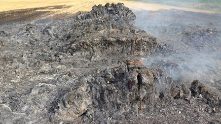 White House Farm, second straw stack fire