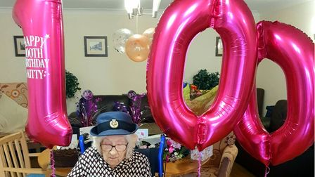 Kitty celebrated her 100th birthday by seeing a family member for the very first time.