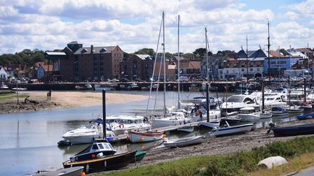 The picturesque harbour at Wells-next-the-Sea, with boats basking in beautiful sunshine. Picture: DE