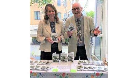 Margaret and Maurice at a book launch at the Norfolk and Norwich University hospital