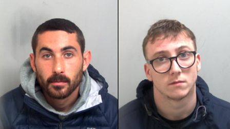 Jake Mitchell, left, and Billy Parsley, right, have been jailed following the gun trade in Colchester