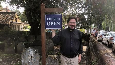 The Reverend James Stewart at Thorpe St Andrew Parish Council